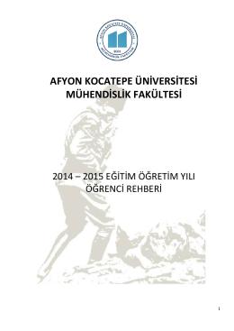 2014-2015 Güz Yarıyılı Eğitim Rehberi