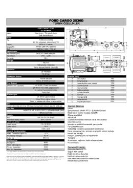 2536D Teknik özellikleri