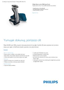 Product Leaflet: elektrikli ıslak ve kuru tıraş makinesi