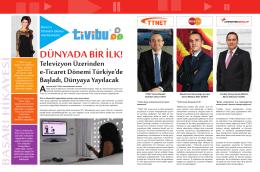 DÜNYADA BİR İLK: Televizyon Üzerinden e-Ticaret