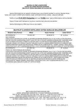21 ocak 2015 akü trafo ihale listesi