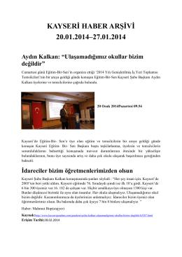 4. Hafta - Kayham - Erciyes Üniversitesi