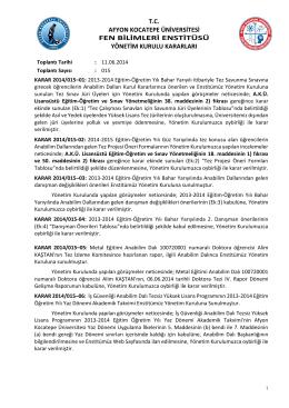 karar 2014/015 - Afyon Kocatepe Üniversitesi