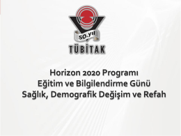 Horizon 2020 Programı - Hacettepe Teknoloji Transfer Merkezi