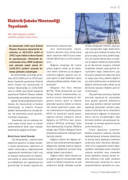 Elektrik Şebeke Yönetmeliği Yayınlandı
