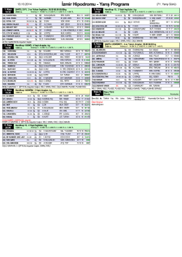 Yarış Programı
