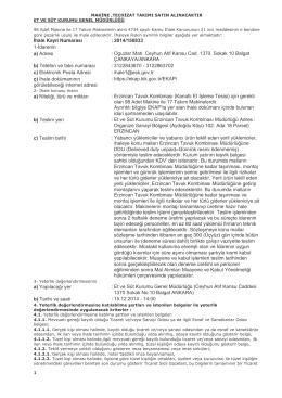 İhale Kayıt Numarası :2014/150833 1-İdarenin a