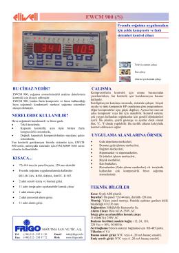 EWCM 900S TR - FRİGO SOĞUTMA SANAYİ ve TİCARET A.Ş.