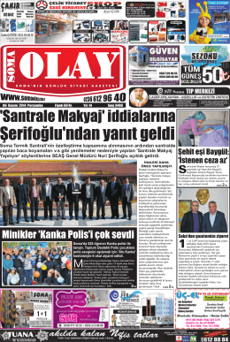 06 Kasım 2014 - Olay Gazetesi
