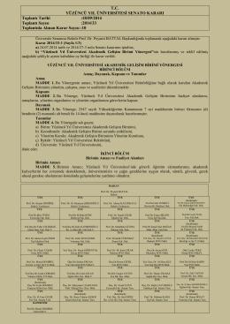 Senato 2014-33(değişik yönergeler)