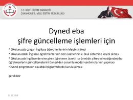 DynEd Sunu-1 - Çanakkale İl Milli Eğitim Müdürlüğü