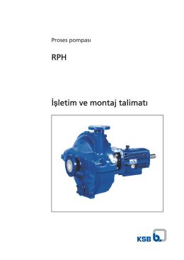 RPH İşletim ve montaj talimatı
