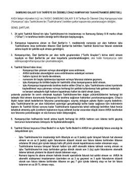 SAMSUNG GALAXY S III TARİFEYE EK ÖDEMELİ CİHAZ