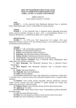 Ordu Büyükşehir Belediye Başkanliği Imar Ve Şehircilik Dairesi
