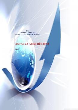 ANTALYA ARGE BÜLTENİ - Antalya Milli Eğitim Müdürlüğü
