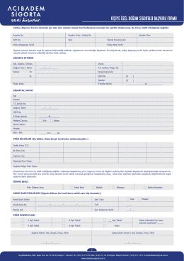kişiye özel doğum sigortası başvuru formu