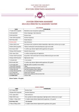 2014-2015 öğretim yılı akademik takvimi