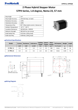 ProMotoR 2 Phase Hybrid Stepper Motor 57PH Series, 1.8 degree