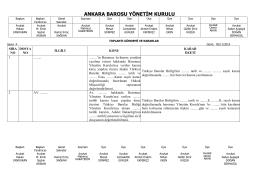 05 kasım 2014 tarihinde yapılan yönetim kurulu