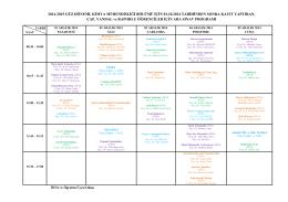 2014-2015 güz dönemi, kimya mühendisliği bölümü için 01.10.2014
