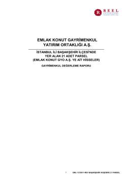 Başakşehir Hoşdere 21 adet Parsel
