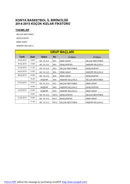 2014-2015 fikstürler - Konya Basketbol İl Temsilciliği