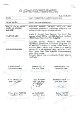 Gündemin 12.Maddesi - Antalya Belediyesi