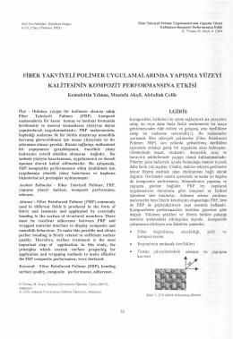 fiber takviyeli polimer uygulamalarında yapışma yüzeyi kalitesinin