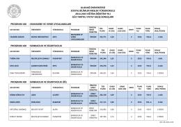 uludağ üniversitesi sosyal bilimler meslek yüksekokulu 2014