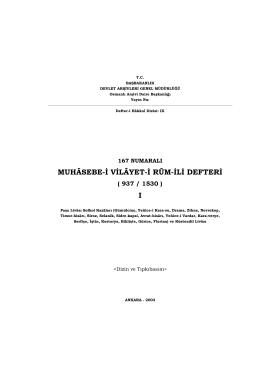 ÇİRMEN LİVASI YER İSİMLERİ - Devlet Arşivleri Genel Müdürlüğü