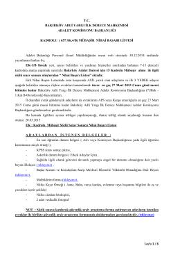 kadrolu mübaşir nihai başarı listesi 20.03.2015