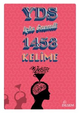 YDS İÇİN ÖNEMLİ 1453 KELİME 4387 kez indirildi.
