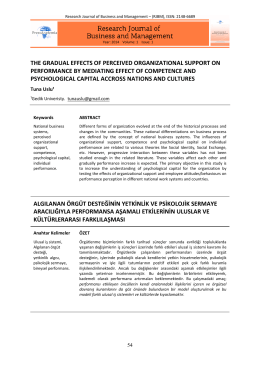 the gradual effects of perceıved organızatıonal support