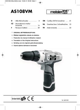 AS108VM - Meister Werkzeuge
