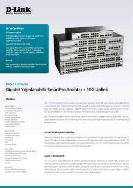 DGS-1510 Serisi A1 Datasheet_TR - D-Link