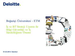 Boğaziçi Üniversitesi - ETM İş ve BT Strateji