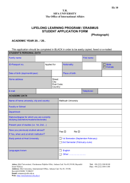 Application Form - TR