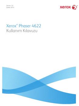 Xerox® Phaser 4622 Kullanım Kılavuzu