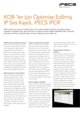 iPECS IPCR Teknik Özellikler