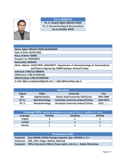 Education Professional skills CV or BIODATA