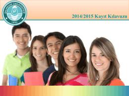 Kayıt Kılavuzu - Balıkesir Üniversitesi
