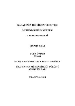 R - Karadeniz Teknik Üniversitesi