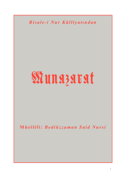19-Münazarat