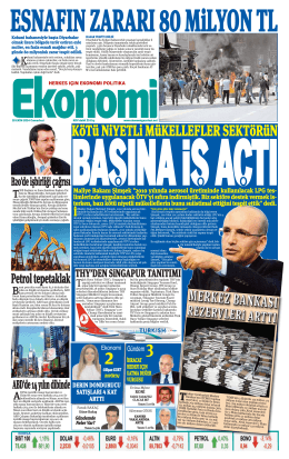 18 EKİM 2014 - Ekonomi Gazetesi