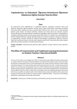 Tam Metin (PDF) - Pamukkale Üniversitesi Eğitim Fakültesi Dergisi