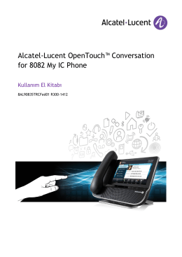 Alcatel-Lucent OpenTouch™ Conversation for 8082 My IC Phone