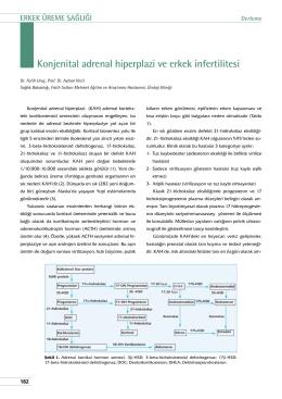 Konjenital adrenal hiperplazi ve erkek infertilitesi