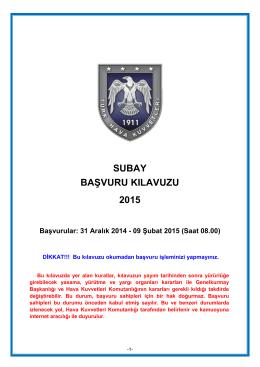 Muvazzaf/Sözleşmeli Subay Başvuru Koşullarını okumak için tıklayınız.