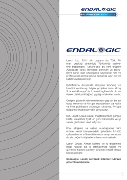 Endalogic 2013-2014/001 Ürün Katalog