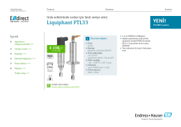 Liquiphant FTL33 (PDF 2,19 MB) - E-direct